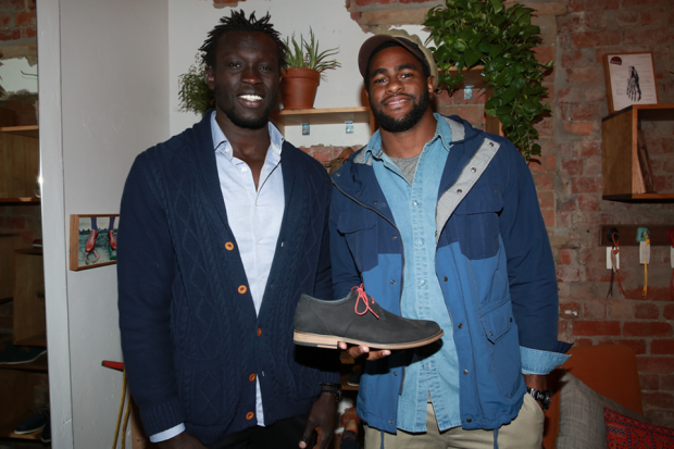 Majak Daw and Eric Wallace with our Carbon derby