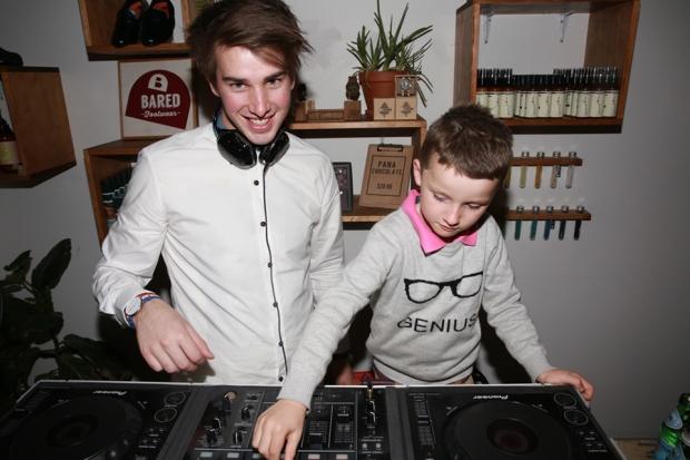 Gilbert giving Ben the DJ a hand